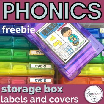 Word work labels for photo boxes FREEBIE