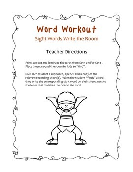 Word work out literacy activities, games and centers