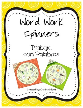 Word Work Spinners in Spanish