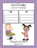WordFamilies - 37 Worksheets