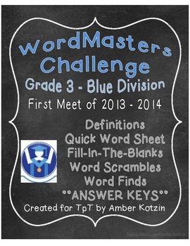 WordMasters Challenge Grade 3 Blue Division 2013-2014