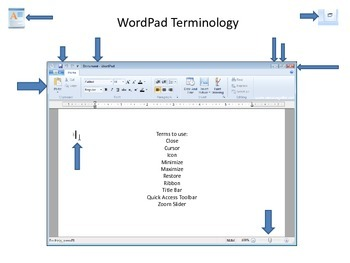 Wordpad computer terminology worksheet by britta berry tpt wordpad computer terminology worksheet ccuart Images