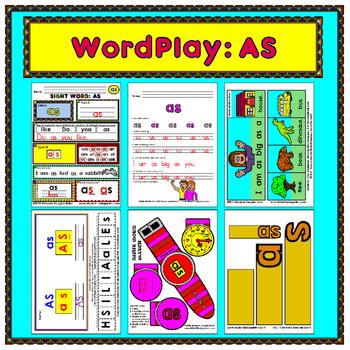 WordPlay: AS (Sight Word activities)