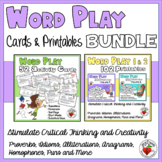 WordPlay Cards & Printables BUNDLE – Critical and Creative Thinking