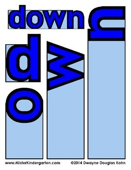 WordPlay: DOWN (Sight Word activities)