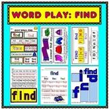 WordPlay: FIND (Sight Word activities)