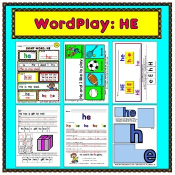WordPlay: HE (Sight Word activities)