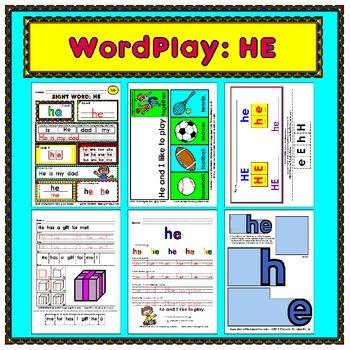 WordPlay: HE (Sight Word activities)