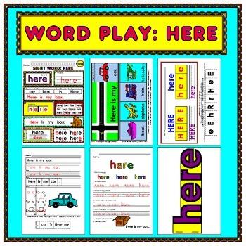 WordPlay: HERE (Sight Word activities)