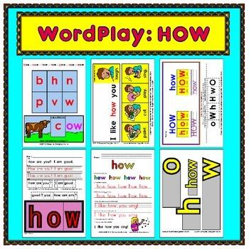 WordPlay: HOW (Sight Word activities)