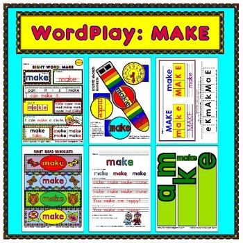 WordPlay: MAKE (Sight Word activities)
