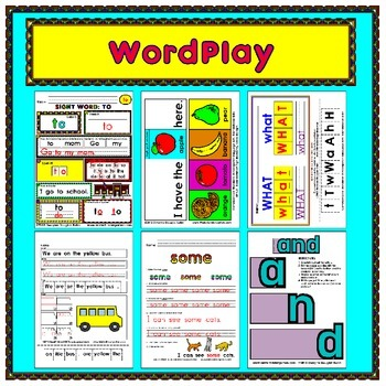 WordPlay MEGA BUNDLE (Sight Word activities)