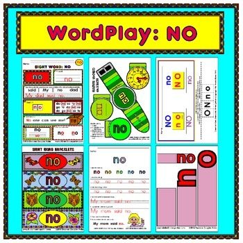 WordPlay: NO (Sight Word activities)