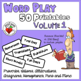 Word Play 50 Printables Volume 1 - Creative Thinking Activities
