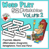 Word Play 52 Printables Volume 2 - Creative Thinking Activities