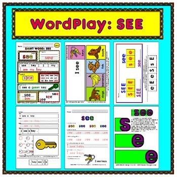 WordPlay: SEE (Sight Word activities)