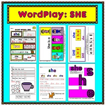 WordPlay: SHE (Sight Word activities)