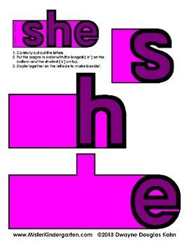 WordPlay: SHE (Sight Word activities)