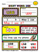 WordPlay: USE (Sight Word activities)