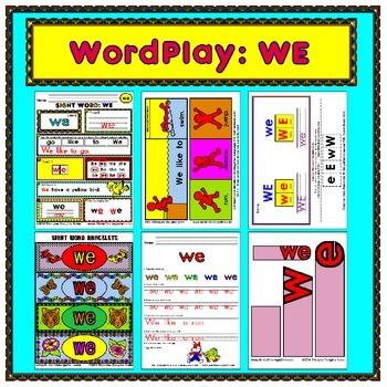 WordPlay: WE (Sight Word activities)