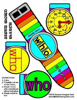 WordPlay: WHO (Sight Word activities)