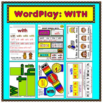 WordPlay: WITH (Sight Word activities)
