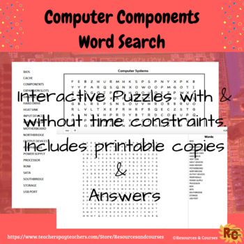 WordSearch - Computer Components