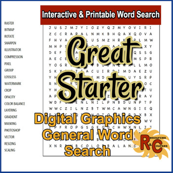 Interactive WordSearch - Digital Graphics