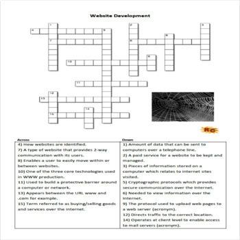 Interactive WordSearch & Crossword - Website Production