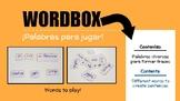 Wordbox - Printable cards of words. LEVEL: BASIC