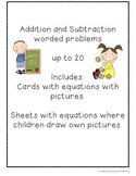 Worded Problems for Addition and Subtraction