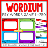 Wordium - A Fry Words Game - Level 1  - Words 1-250