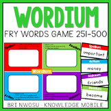 Wordium - A Fry Words Game - Level 2  - Words 251-500