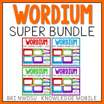 Wordium - A Fry Words Game - Super Bundle - Level 1-4  - Words 1-1000