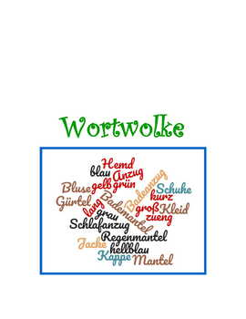 Wordle Activity * Pac For German