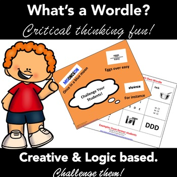 Wordles: Brain Teasers  Creative Writing  Critical Thinking  Activity