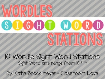 Wordles Sight Word Stations