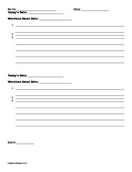 Wordless News Companion Worksheet