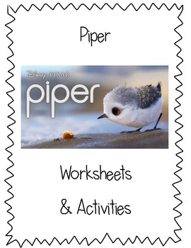 Wordless Short Film - Piper Worksheets