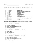 Wordly Wise 3000 Book 6 Lesson 3 Quiz