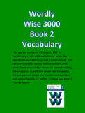 Wordly Wise 3000 Book 2 Vocabulary Cards with Definitions