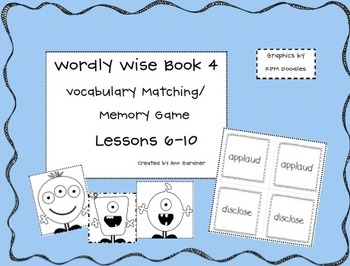 Wordly Wise 3000 - Book 4 - Memory Game - Lessons 6-10