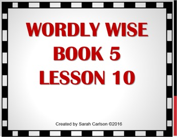 Wordly Wise 3000 Book 5 Lesson 10