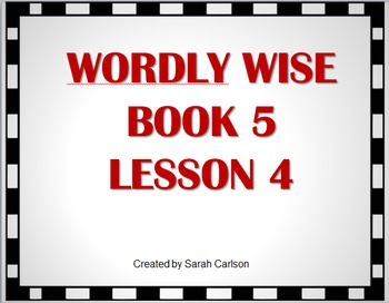 Wordly Wise 3000 Book 5 Lesson 4