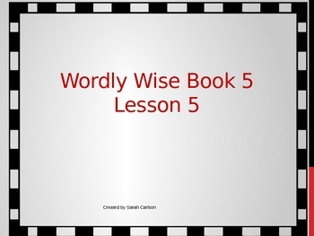Wordly Wise 3000 Book 5 Lesson 5