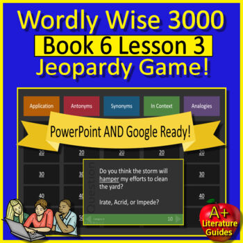 Wordly Wise 3000 Book 6 Lesson 3 Vocabulary Review Game