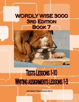 Wordly Wise 3000 Book 7 Expository Narrative Writing Close Tests Lessons 1-10