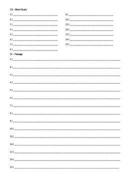 Wordly Wise 3000, Book 8 - Lesson 1 Answer Sheet