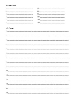 Wordly Wise 3000, Book 8 - Lesson 14 Answer Sheet