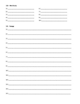 Wordly Wise 3000, Book 8 - Lesson 15 Answer Sheet